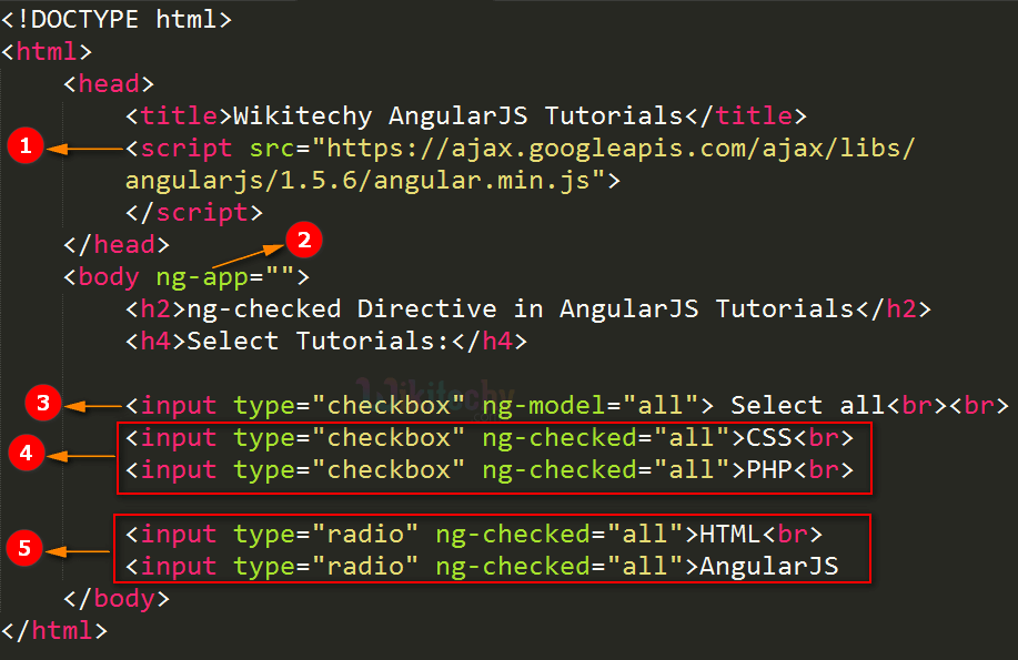 Code Explanation for AngularJS ngchecked