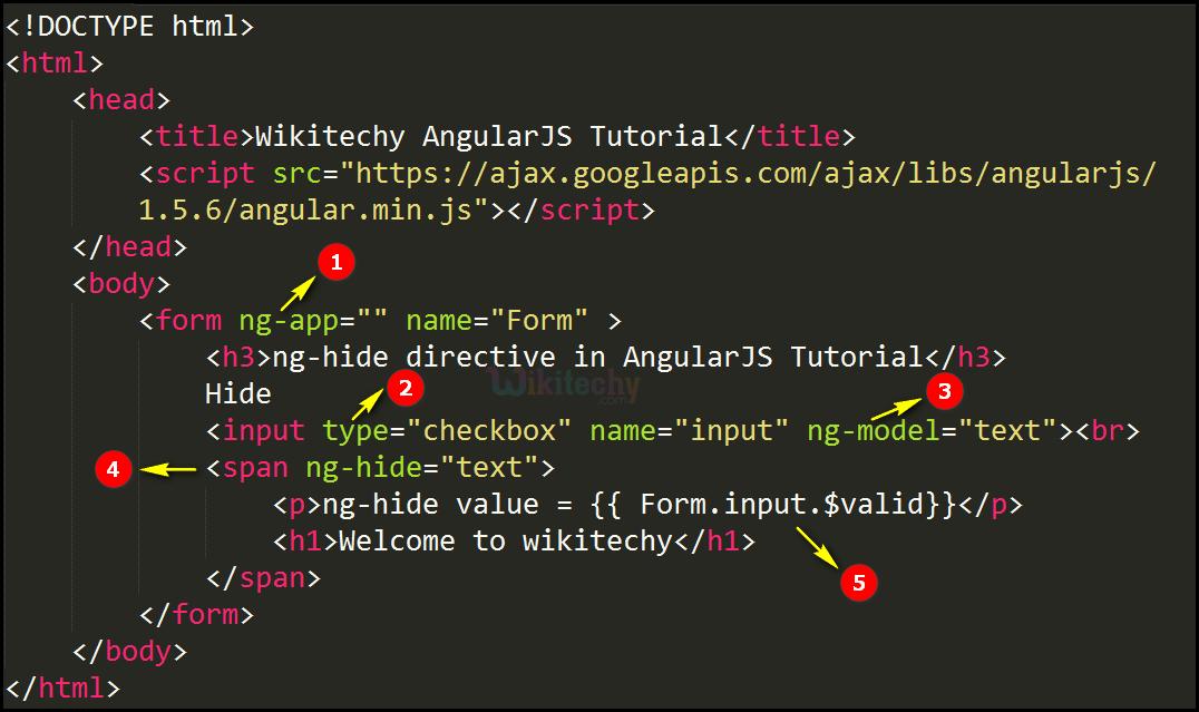 Code Explanation for AngularJS nghide