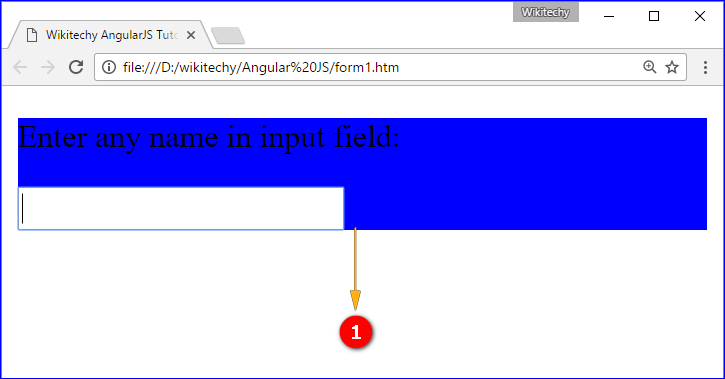 Sample Output for AngularJS form Directive