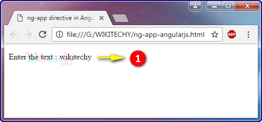 Sample Output for ng app Directive In Angularjs