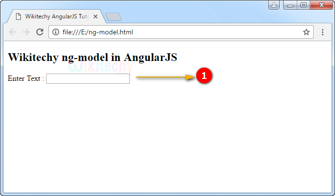 Sample Output for ng-model Directive In Angularjs