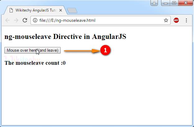 Sample Output for AngularJS ngmouseleave