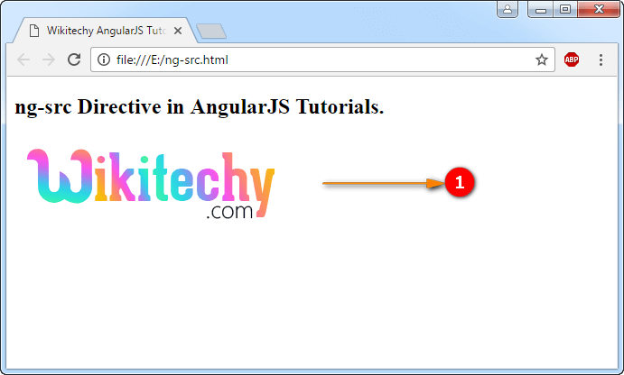 Sample Output for AngularJS ngsrc