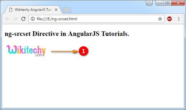 Sample Output for AngularJS ngsrcset