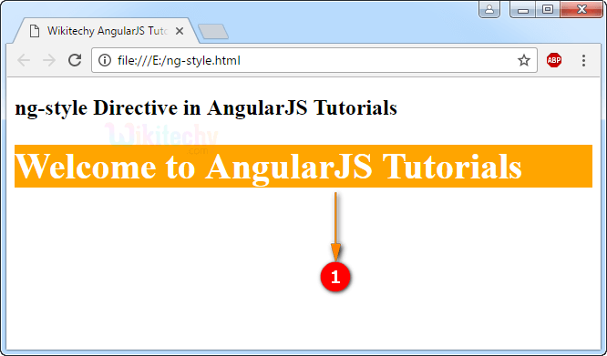 Sample Output for AngularJS ngstyle