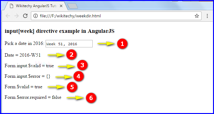 Sample Output1 for AngularJS Input Week