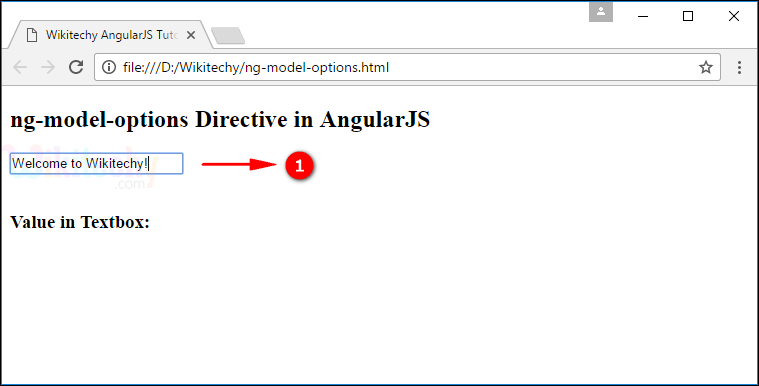 Sample Output1 for AngularJS ngmodeloptions