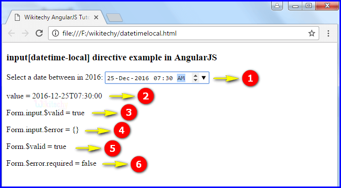 Sample Output1 for Input Datetime Local In Angularjs
