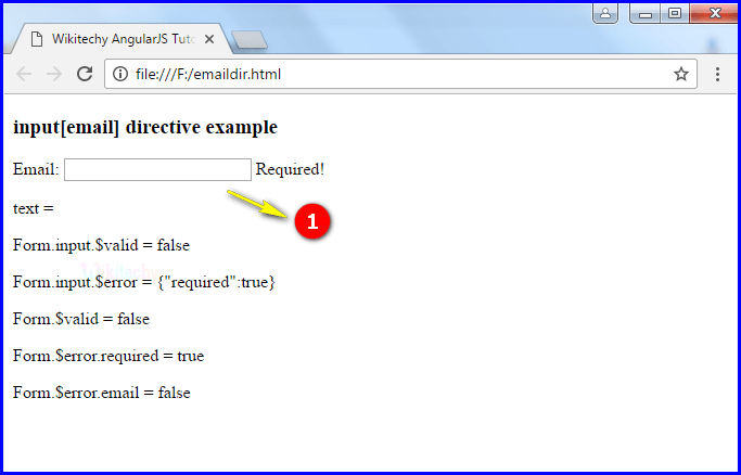 Sample Output2 for AngularJS Input Email