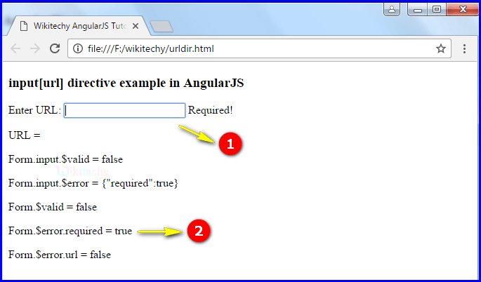 Sample Output2 for AngularJS Input URL