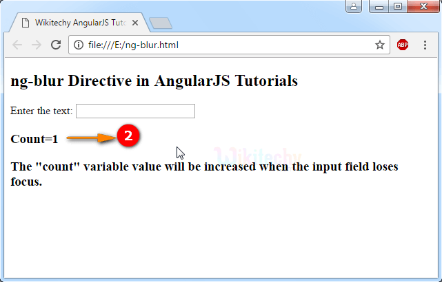 Sample Output2 for AngularJS ngblur