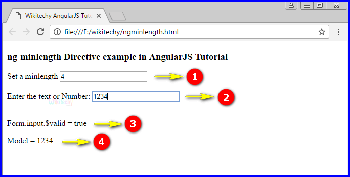 Sample Output2 for AngularJS ngminlength