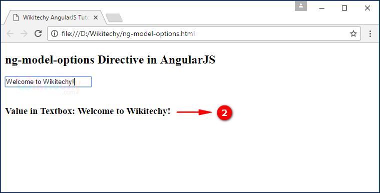 Sample Output2 for AngularJS ngmodeloptions