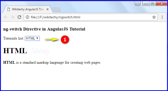 Sample Output2 for AngularJS ngswitch