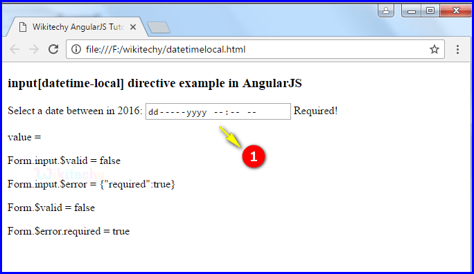 Sample Output2 for Input Datetime Local In Angularjs