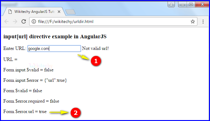Sample Output3 for AngularJS Input URL