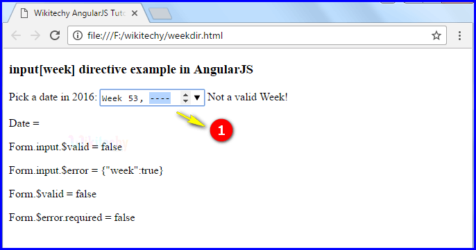 Sample Output3 for AngularJS Input Week