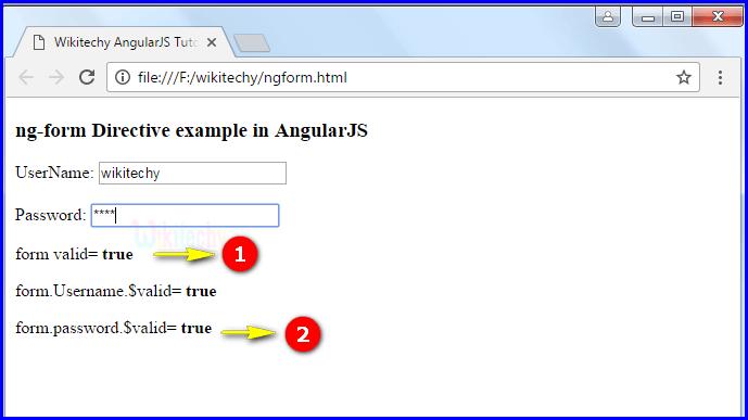 Sample Output3 for AngularJS ngform