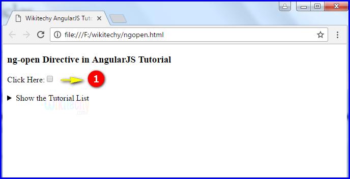 Sample Output3 for AngularJS ngopen
