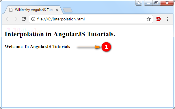 Sample Output for AngularJS Interpolation
