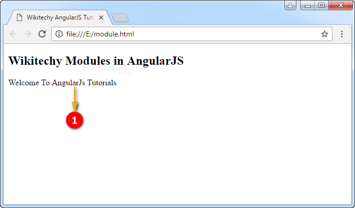 Sample Output for Modules In Angularjs