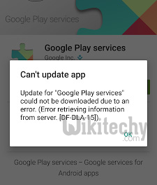 cannot update google play services