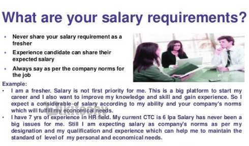 Great What Are Your Salary Requirements