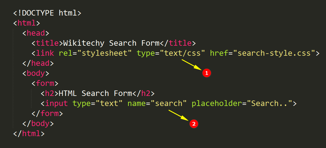 Html5 Search Form - wikitechy