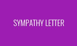 Sympathy-letter