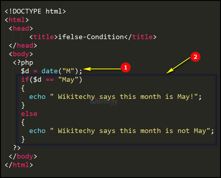 Code Explanation for ifelse Condition In PHP