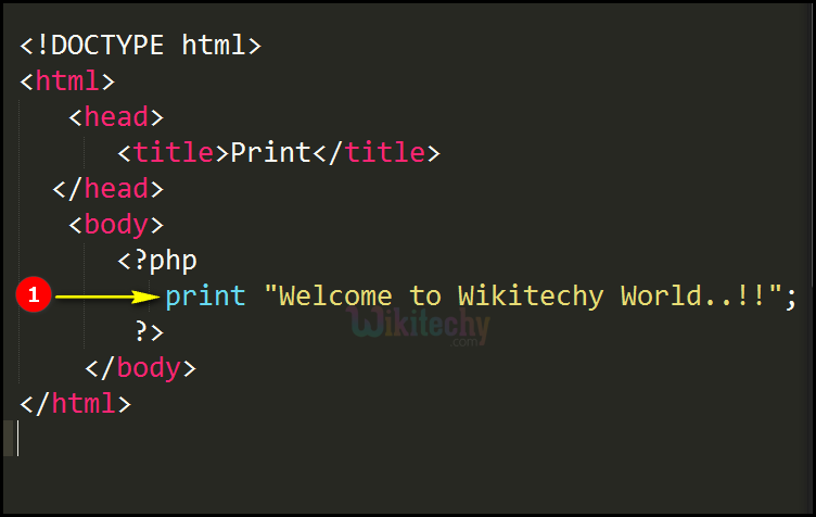 Code Explanation for Print In PHP