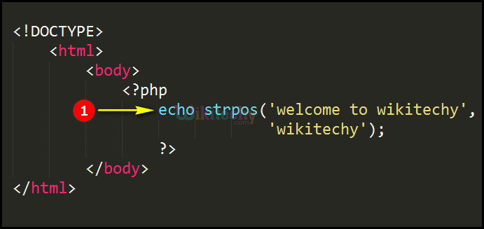 Code Explanation for strpos Function In PHP