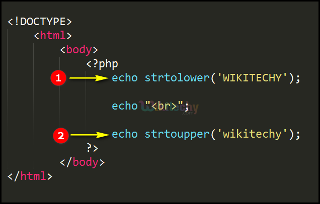 Code Explanation for strtolower strtoupper Function In PHP