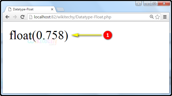output for Datatype Float In PHP