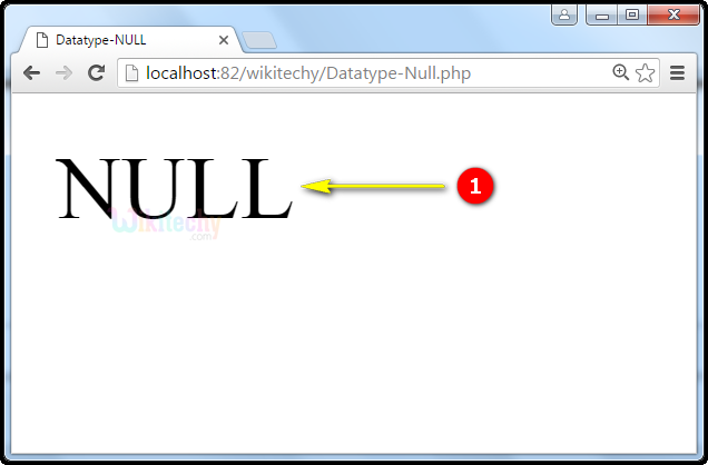 output for Datatype NULL In PHP