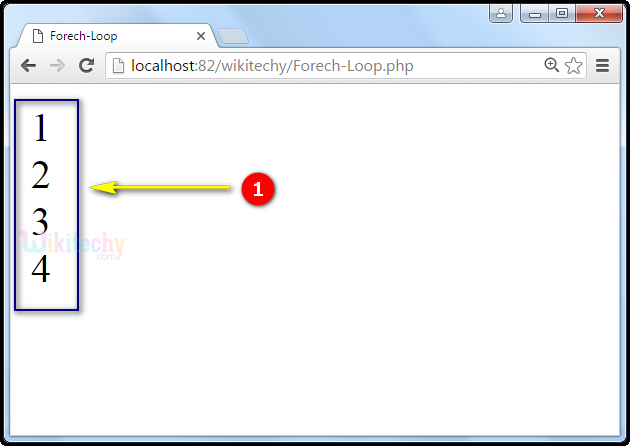 output for foreach Loop In PHP