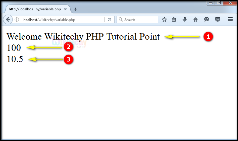 output for Variable In PHP