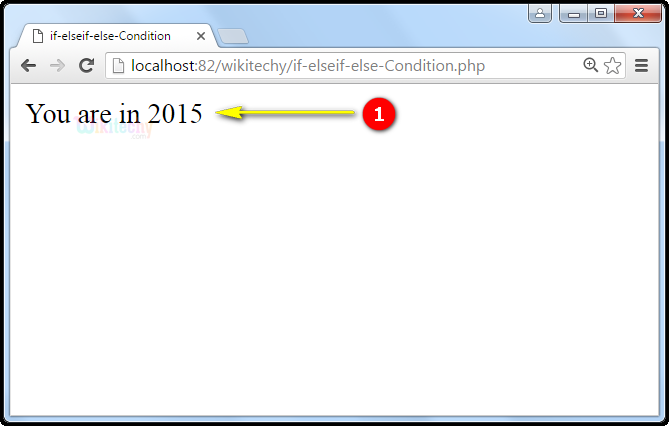 output1 for If elseif else Condition In PHP