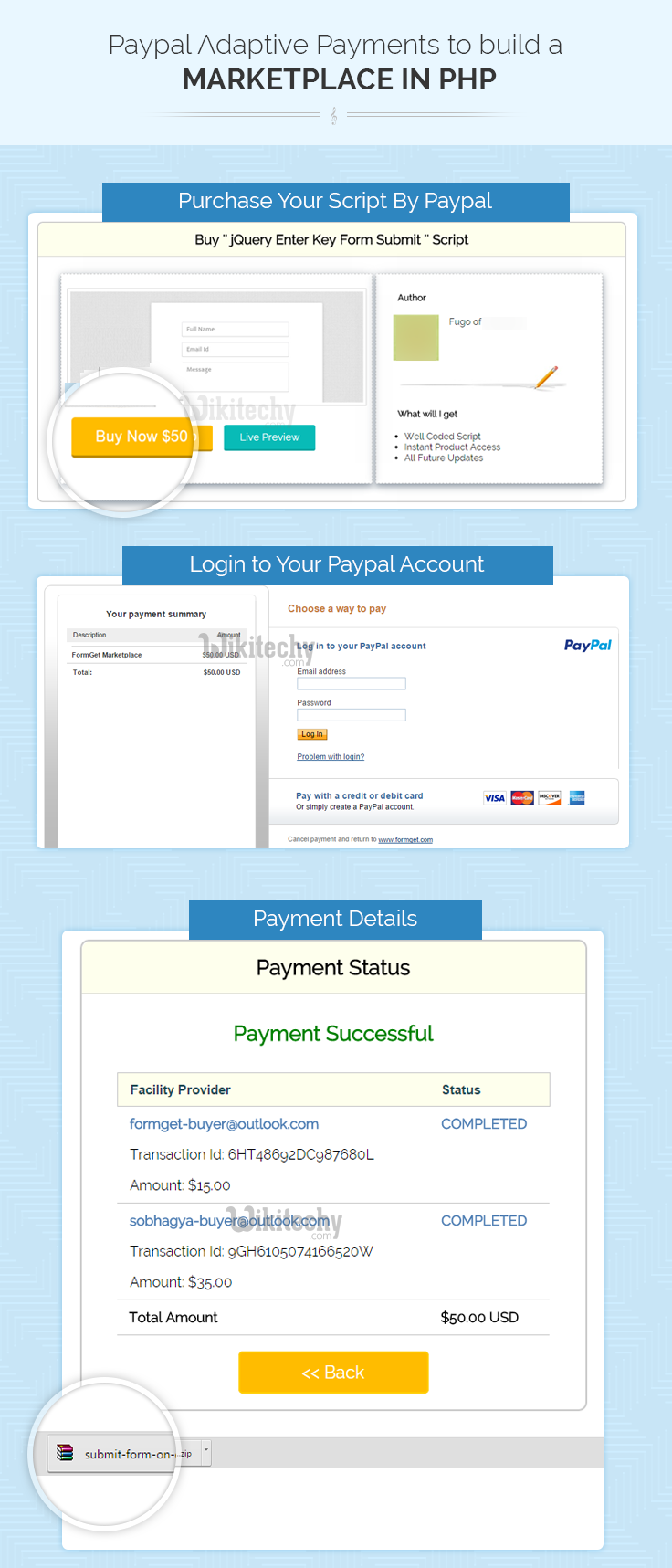 php tutorial - PayPal Adaptive Payments for Marketplace in