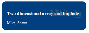 php-implode-two-dimensional-array