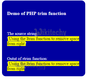 php-rtrim