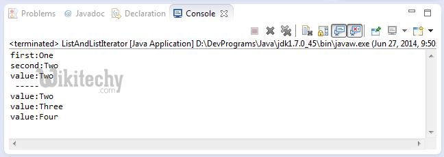 Итератор списка java