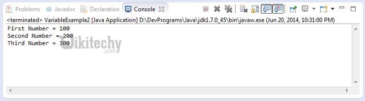 java console window