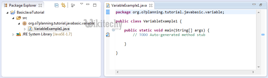 variable example java