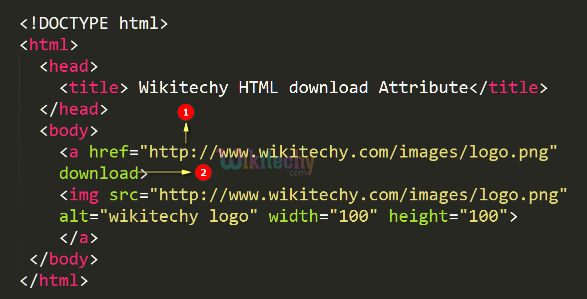 html tutorial - download Attribute in HTML - html5 - html code