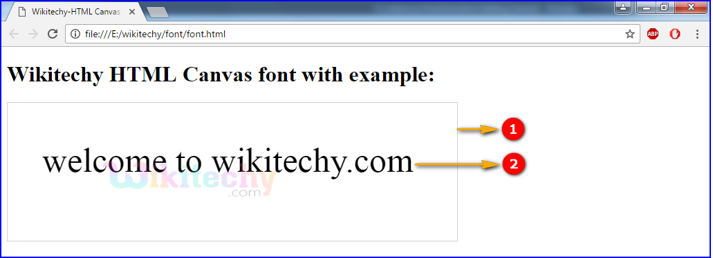 font Property in HTML5 canvas Output