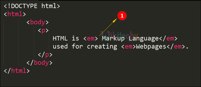 Emphasized <em> Tag Code Explanation
