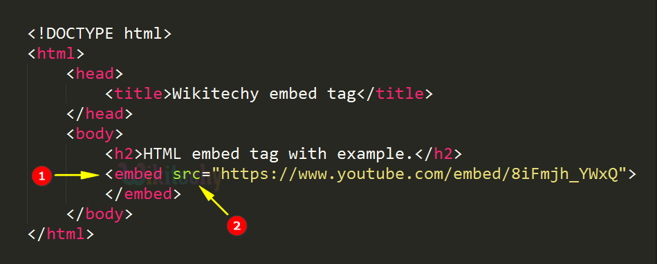 <embed> Tag Code Explanation