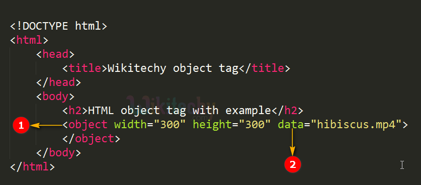 <object> Tag Code Explanation