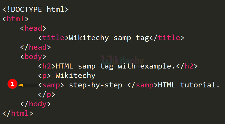 code explanation for sample <samp> tag